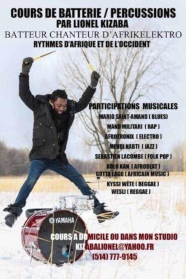 Cours de batterie / percussions / rythmes africains et occidentaux - longueuil