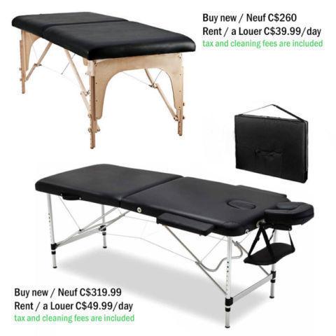Table de massage à vendre neuf / à louer massage table buy new
