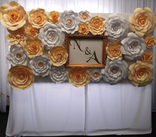 Wedding decoration/paper flowers backdrops