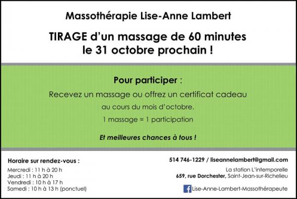 Massage suédois à saint-jean-sur-richelieu | massothérapie lise lambert - massage suédois