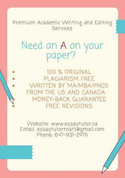 Assignments, research papers, case studies - academic expert in toronto