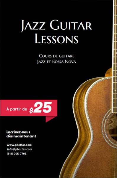 Jazz à montréal | cours de guitare jazz | jazz guitar lessons (1726 rue saint denis)