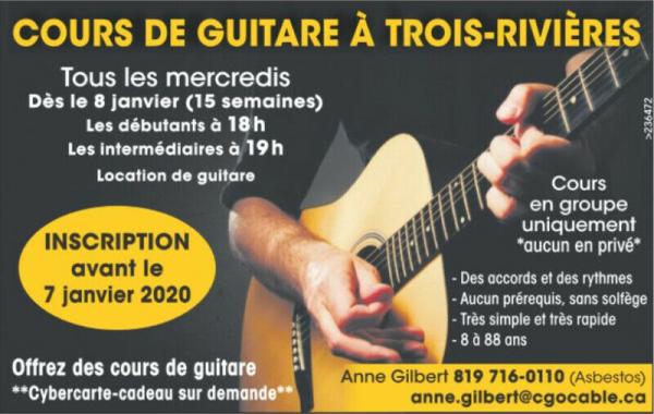 Cours de guitare à trois-rivières