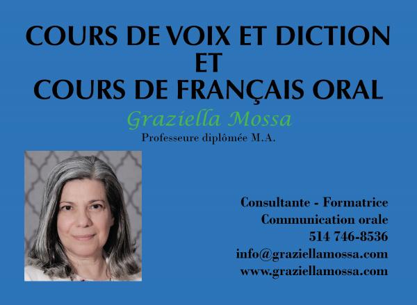 Cours de français oral - montréal
