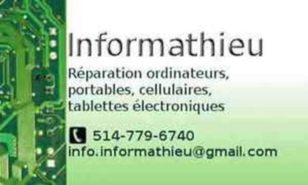 image annonce Informathieu réparation ordinateur et portable - Saint-Jérôme