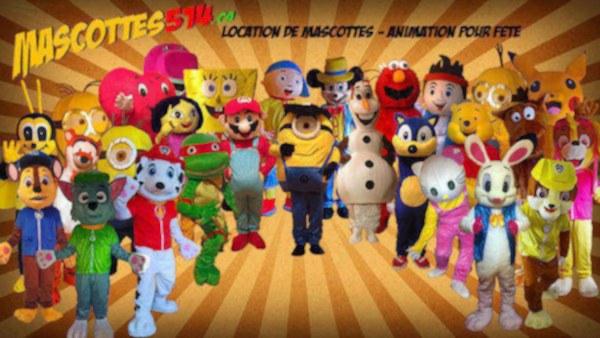 Animation pour fête enfant à domicile - mascottes - forfaits anniversaires - montréal - laval - lanaudière