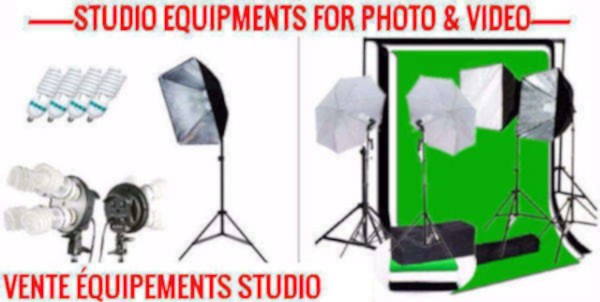 Vente studio éclairage photographie softbox et parapluie