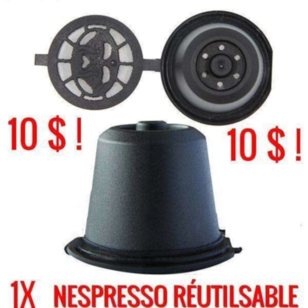1x filtre à café réutilisable nespresso originale - reusable