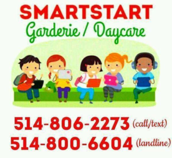 Garderie smartstart / smartstart daycare. location cote des neiges