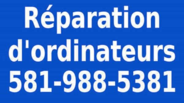 image annonce Réparation d'ordinateurs - Charlesbourg - Ville de Québec