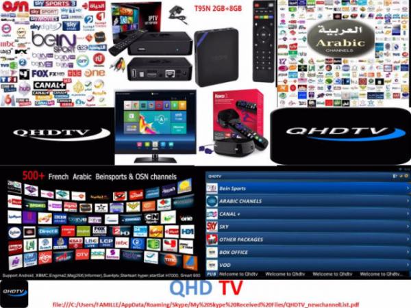 Programme iptv avec qhd tv