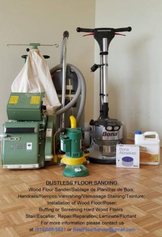 Dustless floor sanding///sablage, reparation de plancher