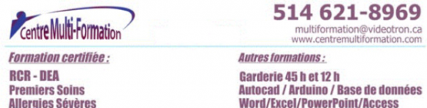 Rcr/dea/premiers soins/soins anaphylactiques : formation certifiée
