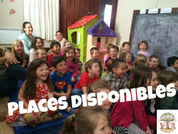 Places disponibles au préscolaire, musical, trilingue et vert