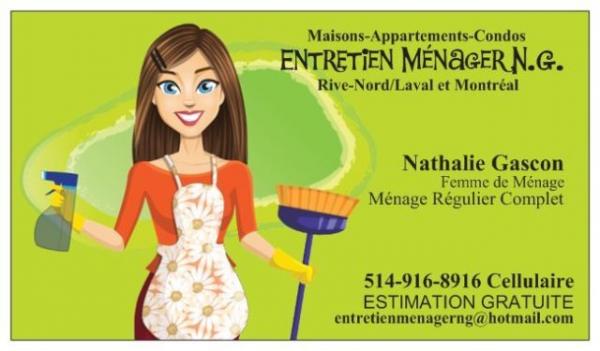 image annonce Ménage Régulier Complet RIVE-NORD/LAVAL Maison-Appartement-Condo