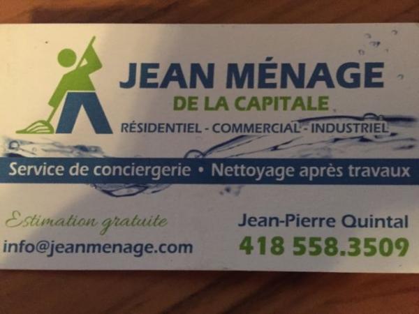 image annonce Jean Ménage de la Capitale - Service de conciergerie - Ménage après travaux