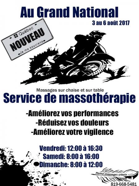 image annonce Massage à Trois-Rivières Massothérapie - Massage Urbain - massage en entreprises et événementiels