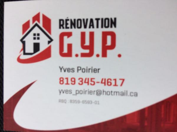 Rénovation g.y.p. / gypse / plâtre / céramique - magog