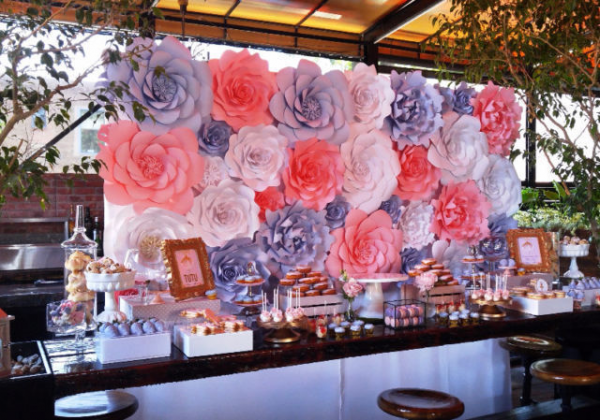 image annonce Wedding decoration/Paper Flowers backdrops