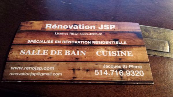 image annonce RENOVATION JSP - Rénovation résidentielle à Terrebonne