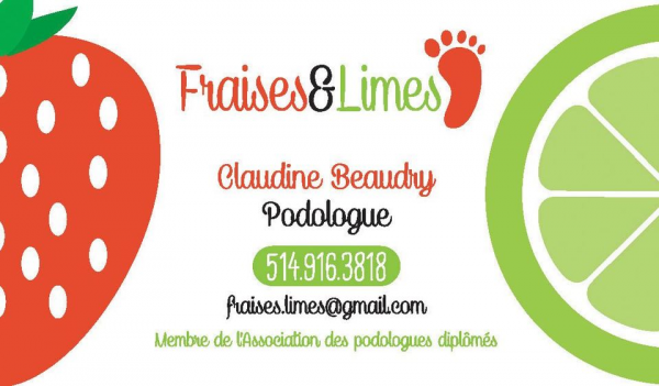 image annonce Soins des pieds à Boisbriand | Fraises et Lime Podologue Service à domicile