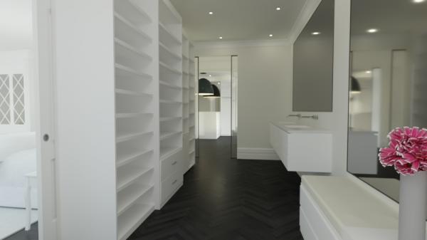Luxueux walk-in ou un espace fonctionnel plus modeste, c'est au choix.