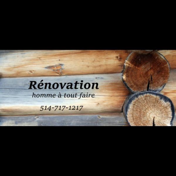 Rénovation - homme à tout faire - terrebonne
