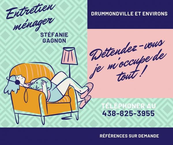 Entretien ménager Stéfanie Gagnon