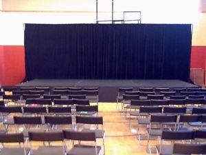 Décoration à montréal rideaux de scène, rideaux de théâtre à louer pour 140 $