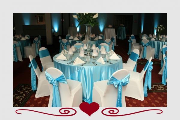 image annonce Décoration de mariage à Saint-Bernard-de-Lacolle louer tout pour votre décoration de salle nappe housse boucle serviette et plus