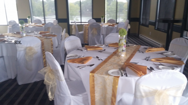 image annonce Décoration de mariage à Saint-Bernard-de-Lacolle S.D.L. pour la décoration de votre salle article housse nappe boucle rideau
