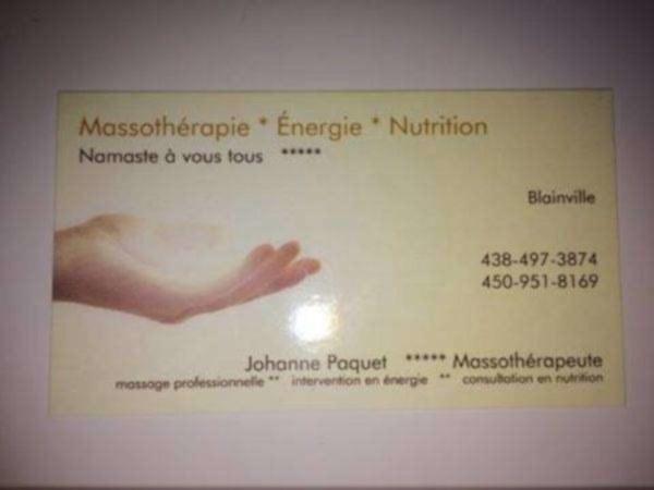 Massothérapie- massage professionnelle seulement, blainville