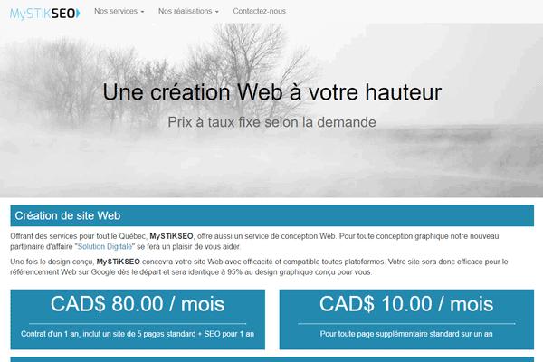 Création de site web à joliette création de site web, mystikseo