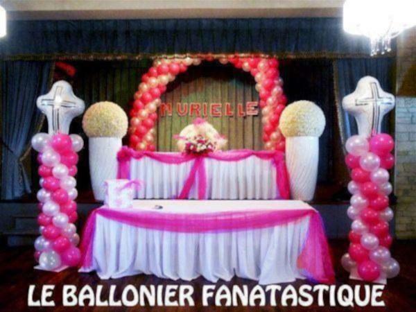 Décoration en balloons pour communion et baptême