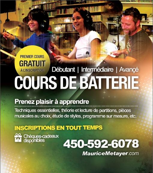 Cours de batterie à Saint-Jérôme | COURS DE BATTERIE St-Jérôme, Blainville, St-Sauveur, Laval, St-Adèle...